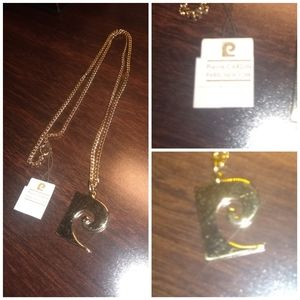 New with tags. Vintage Pierre Cardin logo  necklac